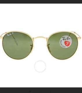 3a0098a360e23 Ray-Ban round metal Sunglasses RB3447 Green Polarized Lens