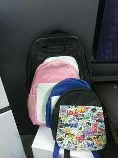 Laptop backpack + kids backpacks