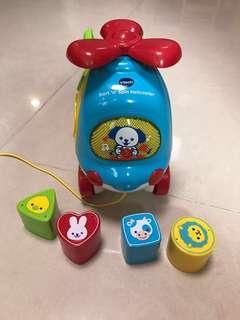 Vtech sort' n' spin helicopter 直升機幼兒玩具