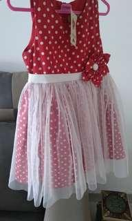 [NEW WITH TAG]Dress Polkadot Size 2-3th