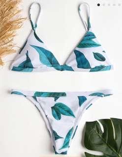 Palm leaf string bikini BNWT - Zaful M