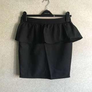 Brand New Peplum Black Skirt