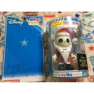 迪士尼  傑克 聖誕夜驚魂 聖誕節  聖誕 聖誕傑克 SMILE SNAP 吊卡 可動  公仔 絕版