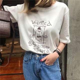 🚚 [PO] Mr Potato Head 'Wanted' Oversized Shirt