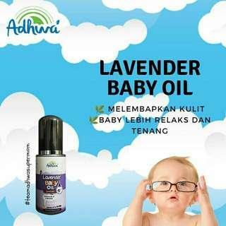 Adhwa lavender baby oil / minyak urut baby / pelembab rambut dan kulit
