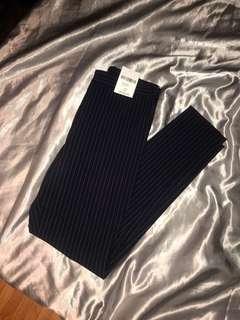 F21 Navy Blue Pinstripe Pants (xs)