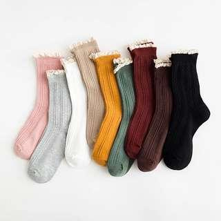 🚚 [PO] Set of 3 Laced Long Socks