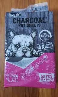 Absorb Plus Charcoal Pet Sheets M size
