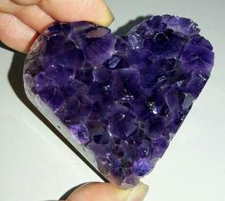 烏拉圭愛心紫晶片,烏拉圭愛心紫晶鎮,烏拉圭愛心122克