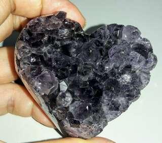 烏拉圭愛心紫晶片,烏拉圭愛心紫晶鎮,烏拉圭愛心164克