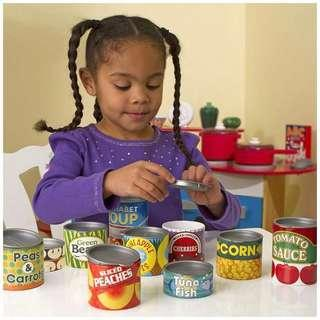 🚚 Melissa & Doug Canned Toy Food