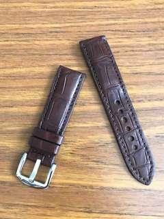 🚚 22mm/20mm Genuine Matt Dark Brown Alligator 🐊 Crocodile Watch Strap 👍🏻FP Journe Moser & Cie