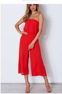 White Fox Boutique Red jumpsuit