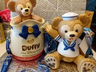 Disney Duffy popcorn container 爆谷桶一套兩個100%New