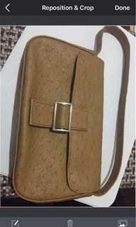 Authentic ostrich leather bag