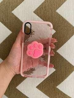 Iphone X case with Popsocket