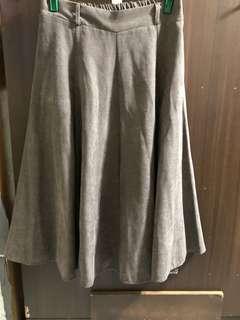 🚚 類麂皮摺裙