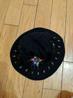 🚚 原住民風 黑色串珠漁夫帽