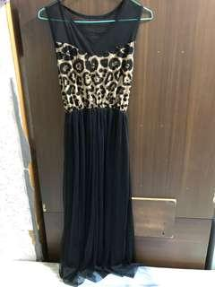 🚚 薄紗豹紋洋裝