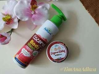 Adhwa baby care Eczema set body wash and balm