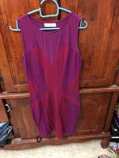Kitshen Maroon Dress