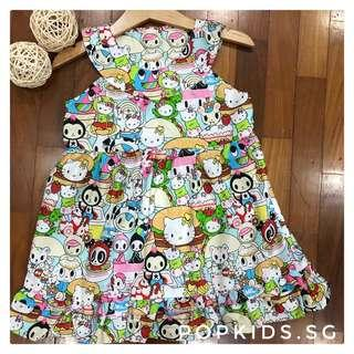 🚚 1-10yo Hello Kitty Tokidoki Oliv Dress