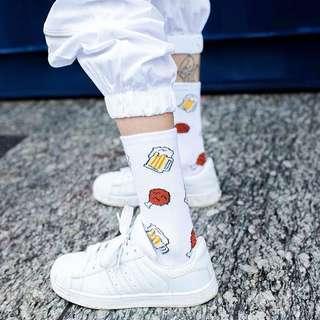 全新|垃圾食物襪