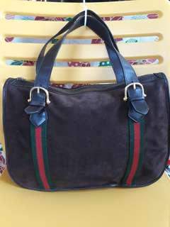 Vintage Gucci suede leather bag