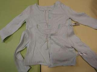 Gap 兩件嬰兒外套 12-18月 孖女