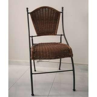 Wrought Iron Chair Foldable Garden Outdoor Chair Furniture