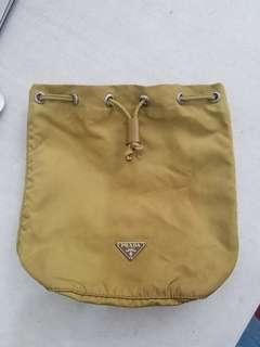 Authentic Prada Drawstring Pouch