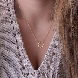 Hollow Circle Necklace