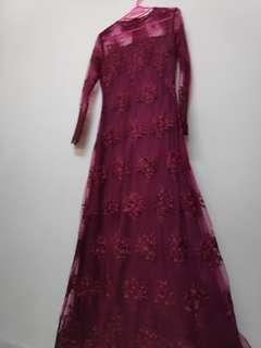 Sewa- Dress lacey Dinner /tunang