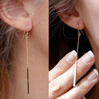 Bar Chain Drop Earrings
