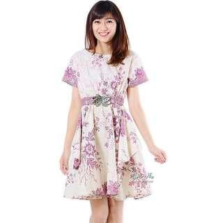 BN Saskia Pink Baroque Dress with Belt/Obi