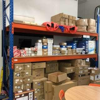 Used Pallet Racking included Ladder