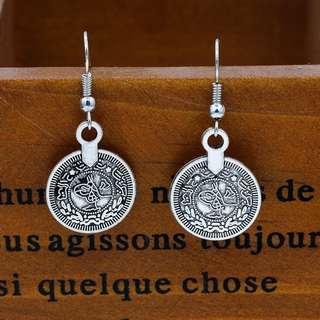 Coin Inspired Dangling Earrings