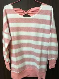 🚚 粉紅條紋上衣