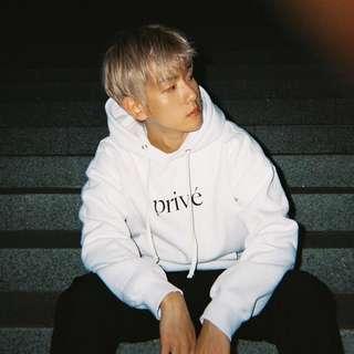 Prive x Baekhyun BBH Classic Logo Hoodie - White