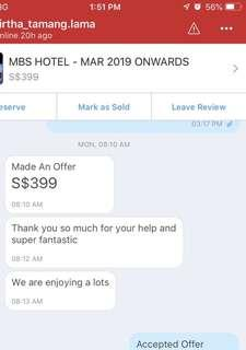 Guest review - mbs hotel