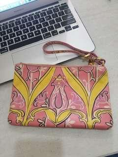 Authentic Prada Floral Wristlet