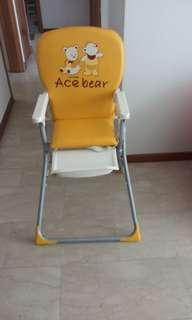 🚚 Bless baby High Chair either cash or exchange with any size any brand diaper for baby