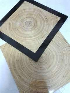 🚚 Lacquer Table Bamboo Display Placemats with Tray Set