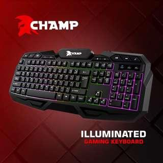 "Champ gaming keyboard ""CHOICE OF CHAMPIONS"" With warranty!"