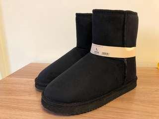 🚚 全新-日本購入黑色雪靴