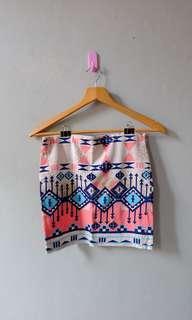 Bershka Pastel Tribal Skirt