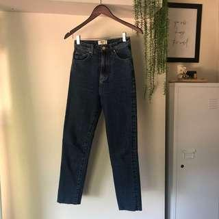 ziggy denim jeans with raw hem