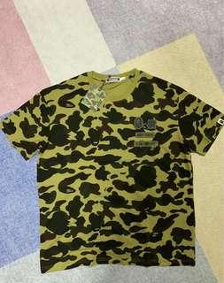 Bape X Undefeated Green Camouflage Tee Shirt
