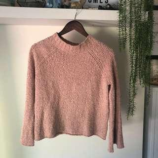 piper blush pink knit
