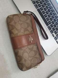 Authentic Coach Double Zip Wallet